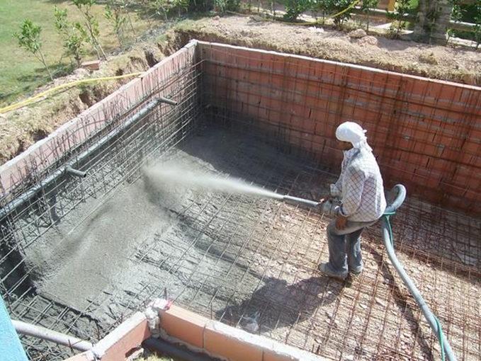El cemento proyectado for Como se construye una piscina de concreto